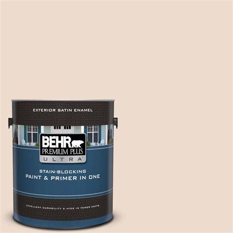 behr premium plus ultra 1 gal 290e 1 weathered sandstone satin enamel exterior paint and