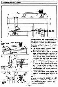 Babylock Bl 1550 Sewing Machine Threading Diagram