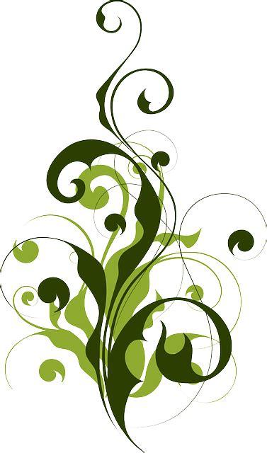 Blumenranke Grün Horizontal by Free Vector Graphic Flora Abstract Filigree Map Free