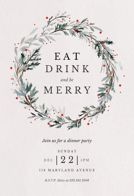 Christmas Party Invitation Templates (Free) Greetings Island