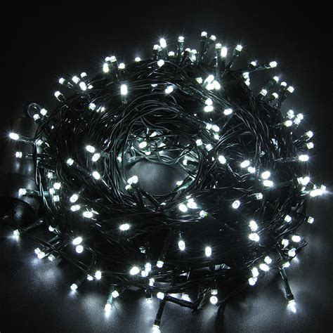 new 131 ft cool white battery operated 300 led 8 function