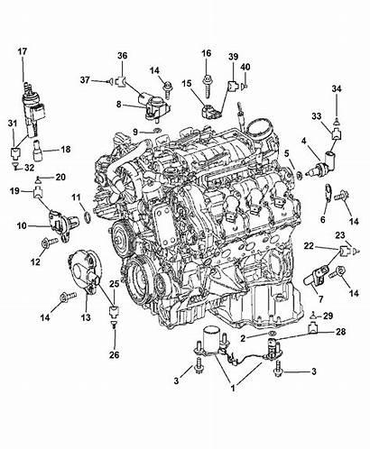 Parts Engine Sprinter Dodge 2008 Motor Sensors