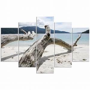 Tableaux Mer Et Plage : tableau d co multi panneaux 100x150 mer plage achat vente tableau toile cdiscount ~ Teatrodelosmanantiales.com Idées de Décoration