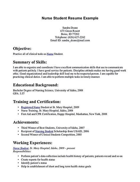 nursing student resume   relevant skills