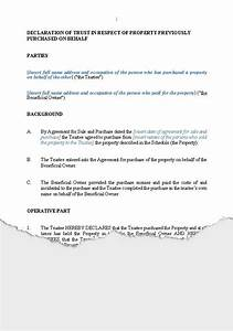 27 images of declaration of trust sample template With trust minutes template