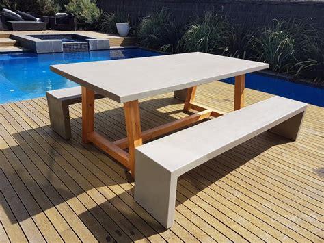 outdoor furniture 2mt x 1mt grc concrete table 2 x