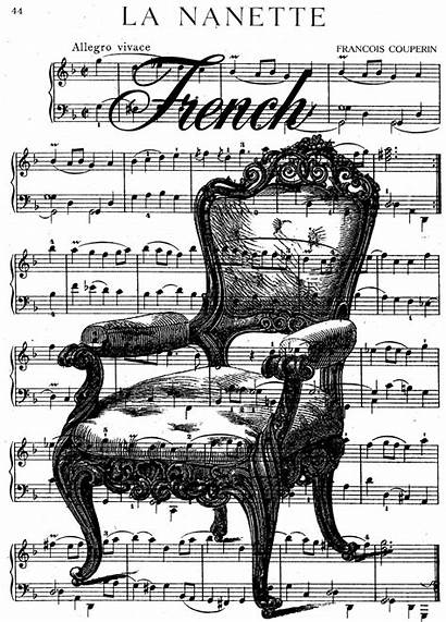 French Digital Stamp Chair Collage Stamps Printable
