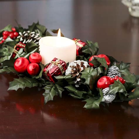 christmas candle ring candles and accessories home decor