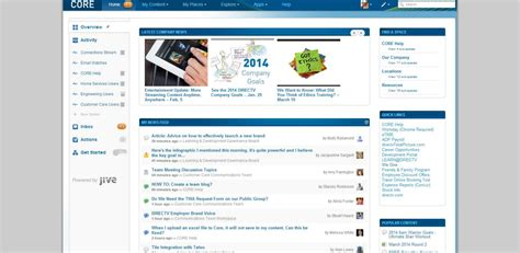 Intranet Home Page : Great Social Intranet Sneak Preview