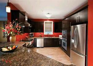 red wall kitchen home upgrades pinterest dark With kitchen colors with white cabinets with princess crown stickers