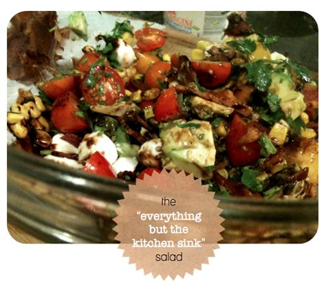everything but the kitchen sink salad recipe the kitchen sink salad sparkle media 9652