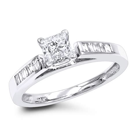 cheap engagement rings 0 75ct princess cut engagement ring 14k gold