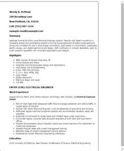Electrical Engineering Resume Summary by Professional Entry Level Electrical Engineer Templates To