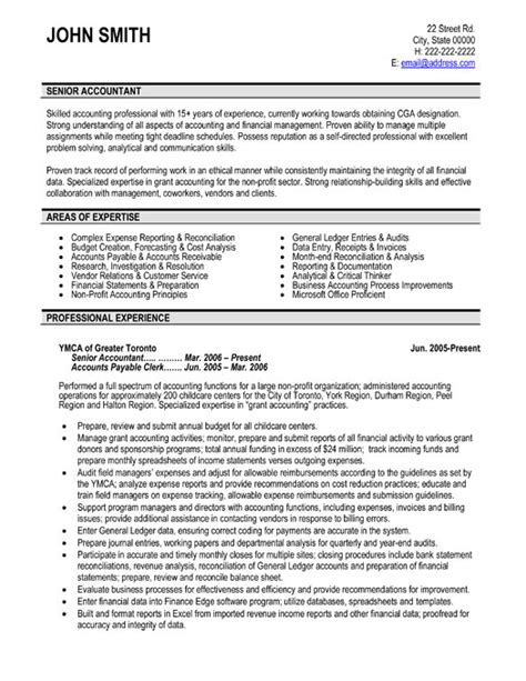 resume for an accountant senior accountant resume sample template