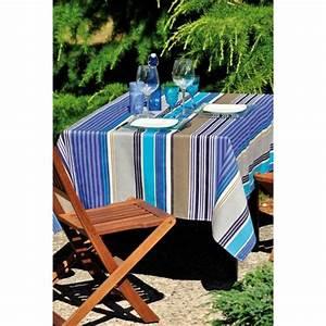 Nappe Toile Enduite : la nappe enduite design color ~ Teatrodelosmanantiales.com Idées de Décoration