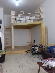 Faire Une Mezzanine : mezzanine biblioth que atelier par slick sur l 39 air du bois ~ Melissatoandfro.com Idées de Décoration