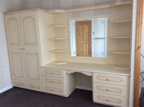 Wardrobe With Dressing Unit by Fitted Wardrobe With Integrated Dressing Table Unit In