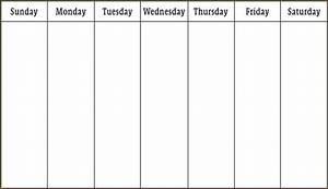 week schedule template questionnaire template With week by week planner template