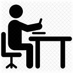 Writing Icon Table Office Chair Icons Write