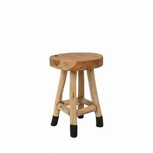 Tabouret Bois Design : tabouret design en teck henry par ~ Teatrodelosmanantiales.com Idées de Décoration