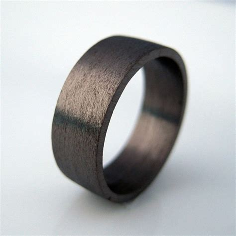 mm wide wedding band black gold ring personalize