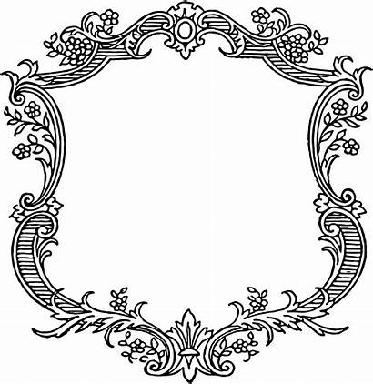 Borders Scroll Border Templates Fancy Clip Frame