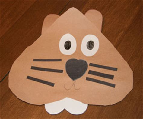 groundhog day crafts and activities all network 478 | paper groundhog craft