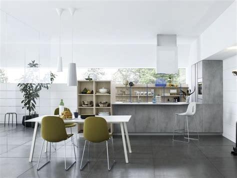 cuisine blanche sol gris cuisine blanche et grise 30 designs modernes et élégants