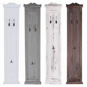 Wandgarderobe Weiß Landhaus : 2x garderobe wandgarderobe garderobenpaneel wandhaken 109x28x4cm wei lackiert ~ Markanthonyermac.com Haus und Dekorationen