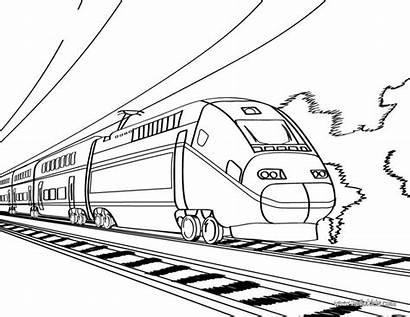 Train Maglev Drawing Coloring Printable Pages Getdrawings