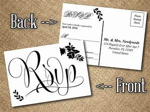 diy wedding rsvp postcard word template vintage romance With wedding rsvp cards free download