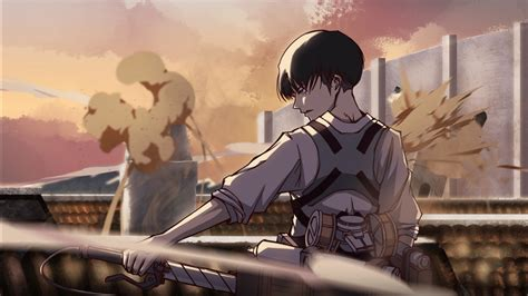 attack  titan levi ackerman    sword  fight