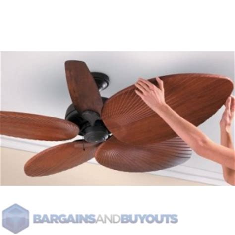 five decorative palm leaf ceiling fan blade covers