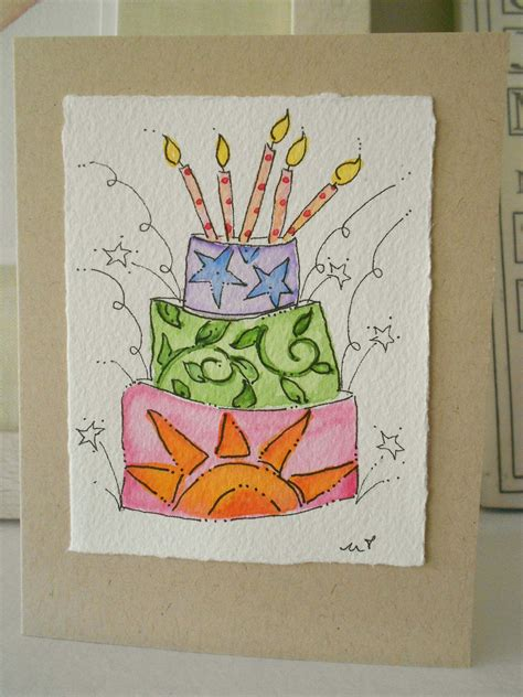 Maybe you would like to learn more about one of these? Birthday Watercolor Card I Like This One Original