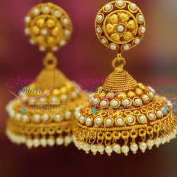 kempu earrings gold jhumka earrings