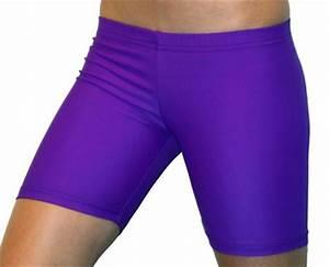 Bright Neon Purple 6 inch Inseam Spandex pression