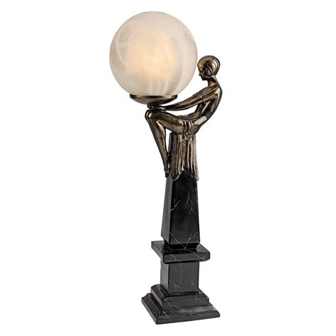 Sculpture Lamp by Design Toscano Pd72501 Goddess Of The Stars Art Deco