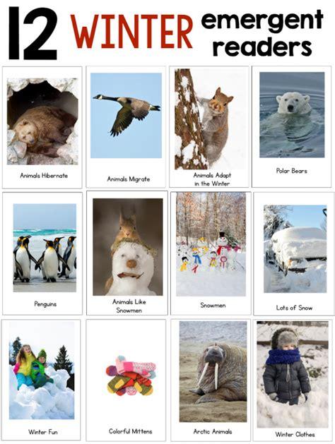 new winter theme pack for preschool amp kindergarten the 906 | 12 winter emergent readers 590x783