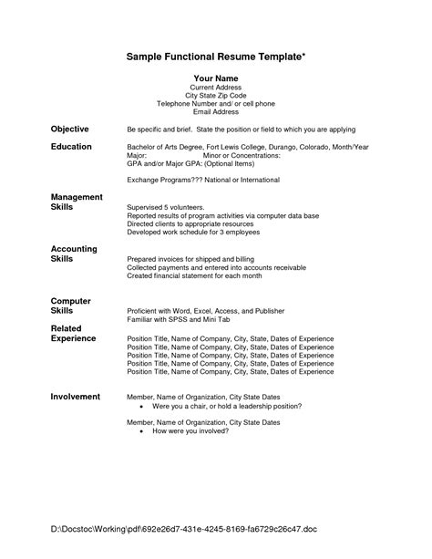 Chronological Resume Versus A Functional Resume by Difference Between Chronological And Functional Resume