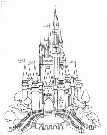 Coloring Pages Park Theme Disneyland Disney Printable