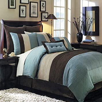 teal  brown bedding