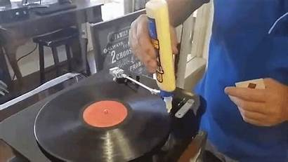 Records Wood Vinyl Glue Clean Cleaning Using