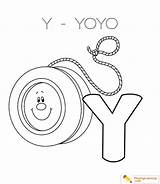 Yoyo Coloring Drawing Letter Alphabet Easy Pages Printable Sheet Country Print Getcolorings Through Drawings Getdrawings Paintingvalley sketch template