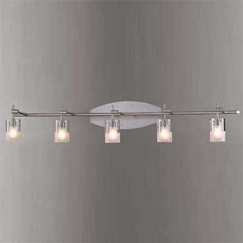 Brushed Nickel Bathroom Lighting Fixtures by George Kovacs Brushed Nickel Five Light Bath Fixture In