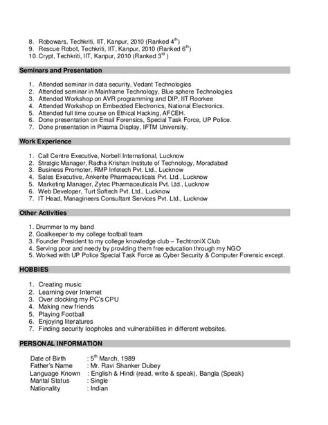 Digital Forensics Resume by Sle Resume