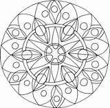 Mandala Coloring Mandaly Therapy Clip Adult Cz Webnode Uder Mandalas Kytka sketch template