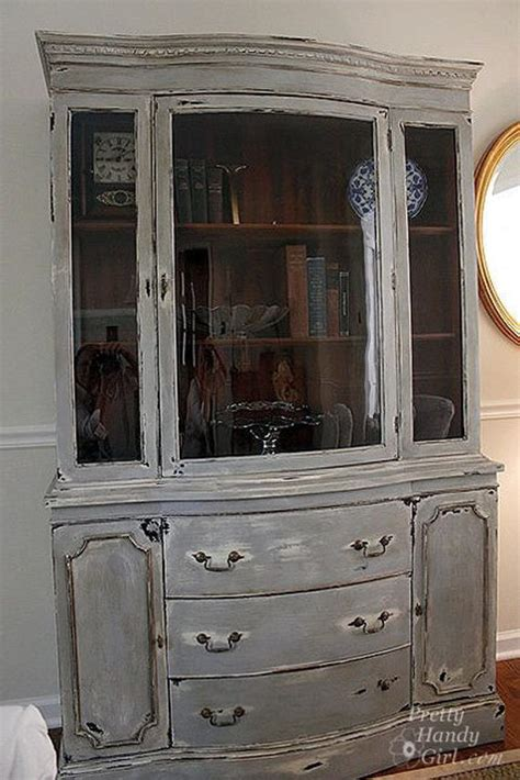 How To Paint And Distress Cabinets by Painted And Distressed China Cabinet Sale Pending