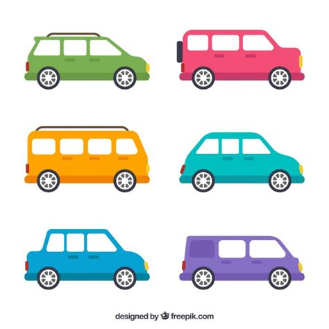 Collection With Different Types Of Vehicles Vector