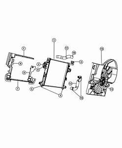2008 Jeep Commander Fan Module  Radiator Cooling