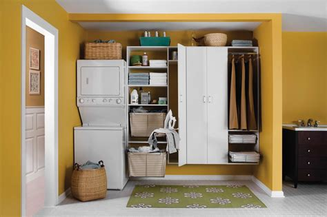 washer dryer stacked 20 laundry room cabinets to try in your home keribrownhomes